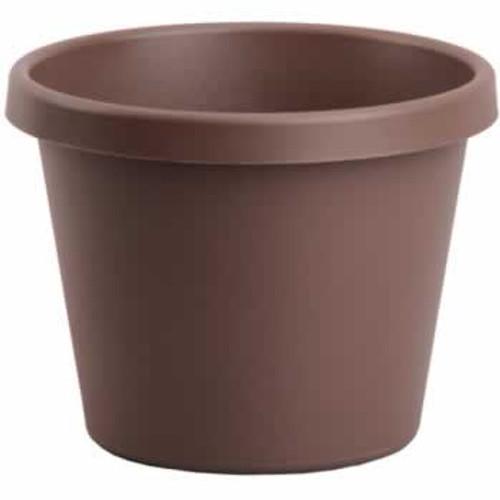 Plastic Pot 8 Inch, Dark Brown