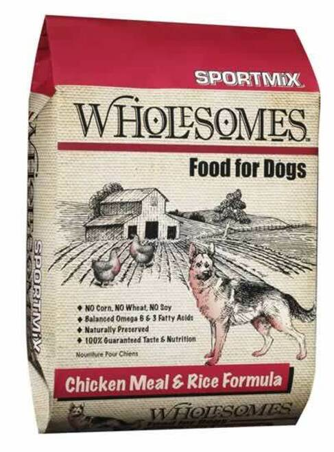 SportMix Wholesomes Chicken & Rice Dog Food 40 Pounds