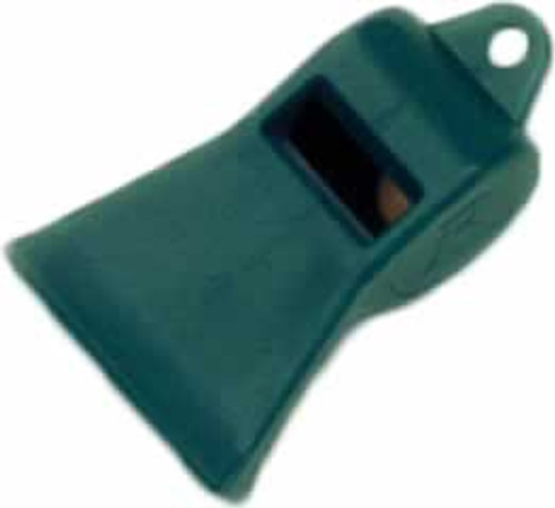Coastal Remington Plastic Green Whistle with Pea