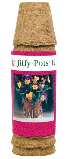 Jiffy Round Pots 2 1/4 Inch, 12 Pack