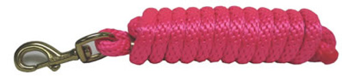 Poly Lead W/ Bolt Snap, 10 Foot, Hot Pink