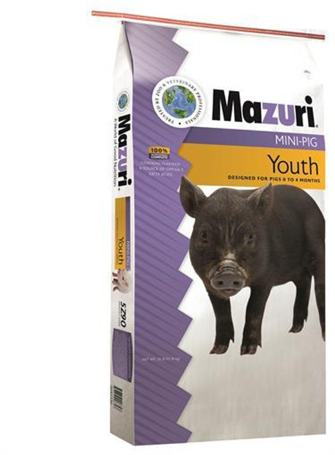 Mazuri Mini Pig Youth Food, 25 Lb.