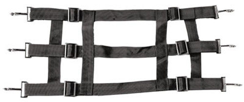 Black 46 Inch Nylon Web Stall Guard