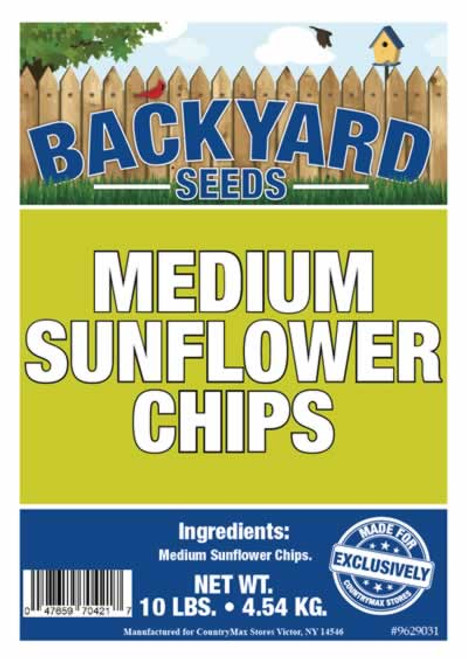 Backyard Seeds Medium Sunflower Chips 10 Pounds