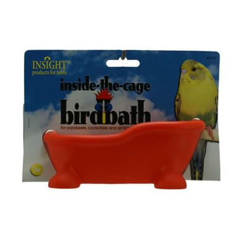 Inside Cage Bird Bath