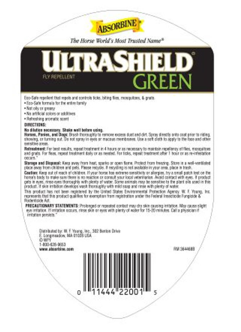 Absorbine UltraShield Green Natural Fly Repellent, Quart