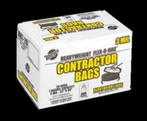 Black 42 Gallon Contractor Trash Bags, 20 Per Box