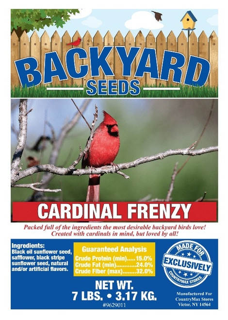 Backyard Seeds Cardinal Frenzy Bird Seed