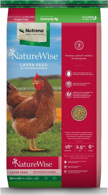 Nutrena NatureWise Egg Layer 16% Crumble 50 Pounds