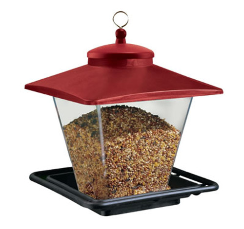 Heritage Farms Red Roof Bird Feeder, Red/Black