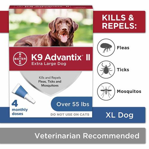 K9 Advantix II Dog Flea & Tick Treatment, Over 55 Lbs.