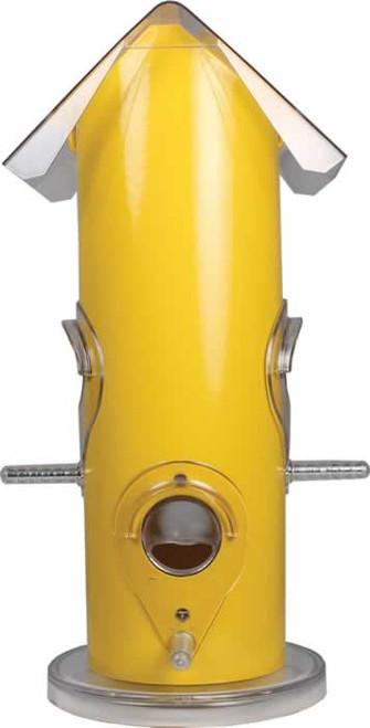 Perky Pet Yellow Metal Tube Bird Feeder
