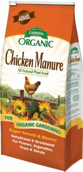 Espoma Organic Chicken Manure 3-2-3 25 Pounds