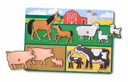 Melissa & Doug Farm Peg Puzzle 8 Pieces