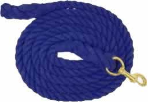 Partrade Cotton Horse Lead Rope, 10' Navy