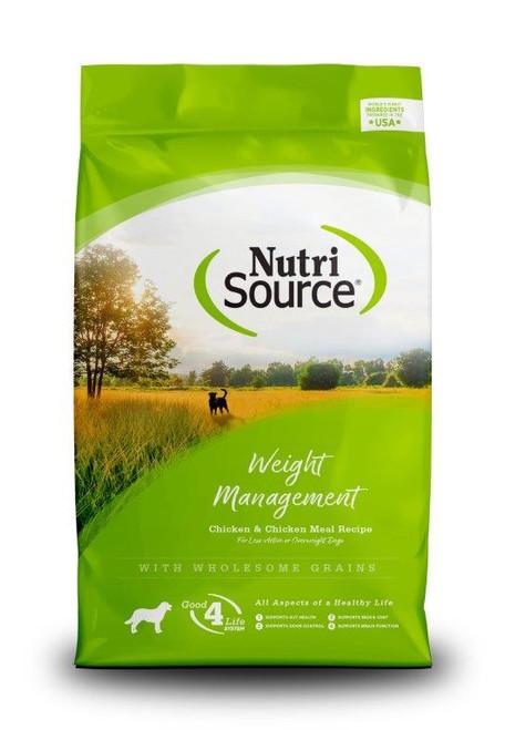 NutriSource Weight Management Chicken & Chicken Meal Dog Food, 18 Lb.