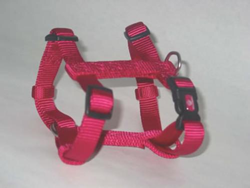 Hamilton Large Adjustable Nylon Comfort Harness, Raspberry