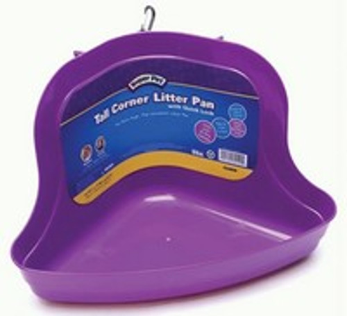 Tall Corner Litter Pan with Quick Lock