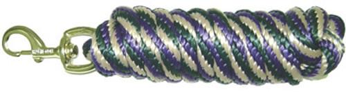 Nylon Horse Lead Green,Tan,Purple