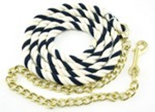 Beiler's Cotton Horse Lead Rope With Chain, 6.5 Feet