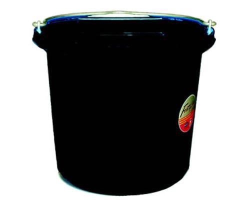 Fortex 24 Quart Black Flat Back Bucket
