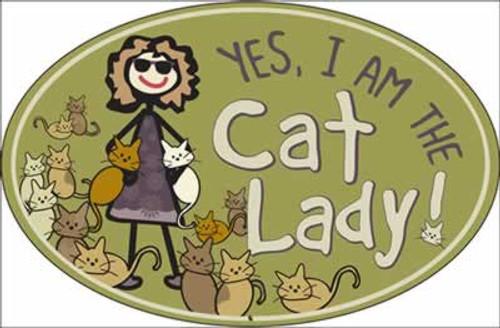 Dog Speak Yes I am the Cat Lady Magnet