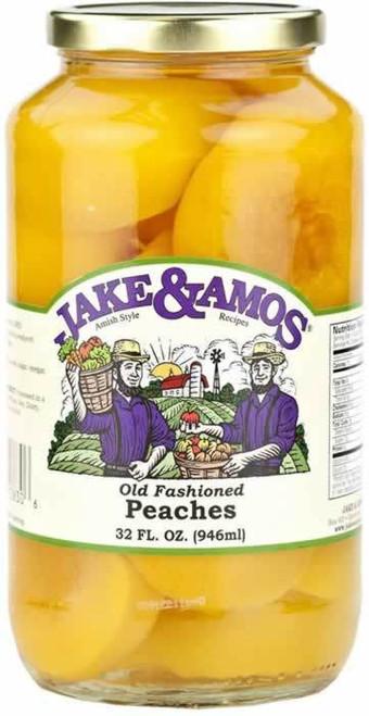 Jake and Amos Peaches Halves 32 Ounces