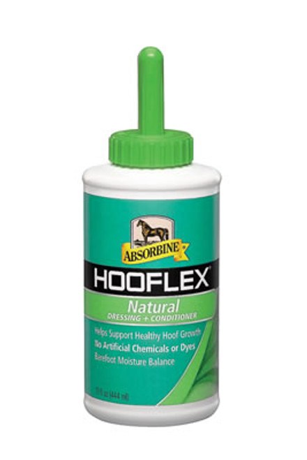 Absorbine Hooflex Natural Conditioner With Brush, 15 Ounce
