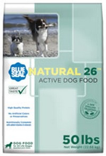 Blue Seal Natural 26 Active Dry Dog Food, 50 Pounds