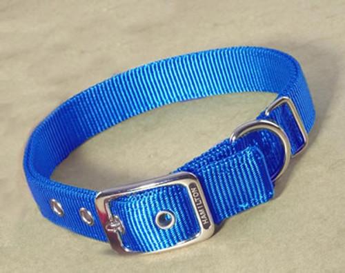 "Hamilton Blue Deluxe Double Thick Nylon Collar, 1"" x 30"