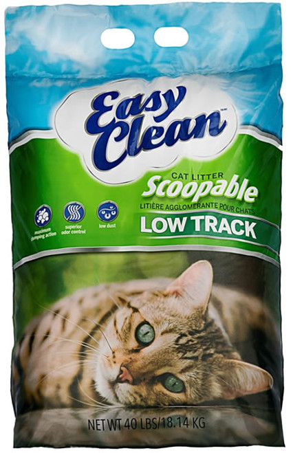 Pestell Easy Clean Low Track Clumping Cat Litter, 40 Lbs.