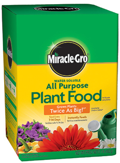 Miracle Gro Water Soluble All Purpose Plant Food, 1 Lb.