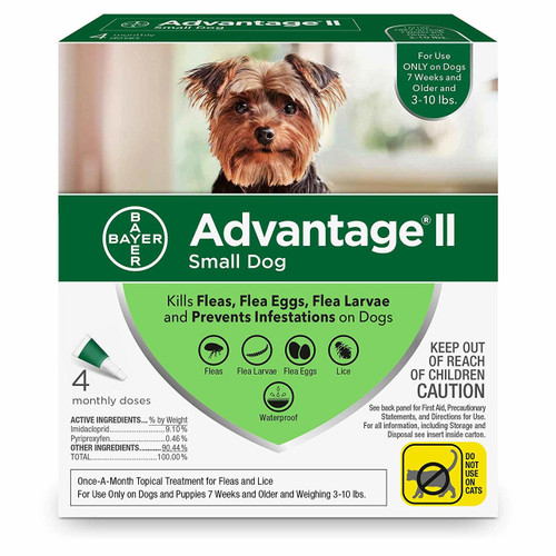 Advantage II Topical Flea Treatment for Dogs and Puppies, 0-10 Lbs.