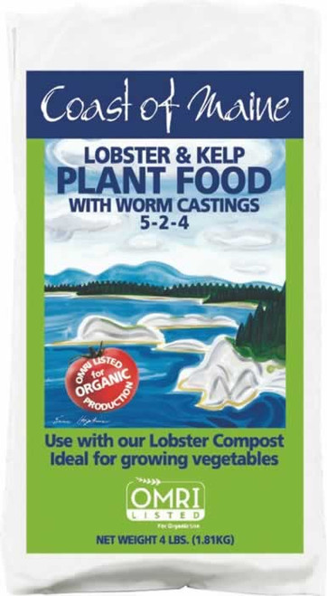 Coast of Maine Lobster & Kelp Plant Food with Worm Castings 5-2-4 4 Pounds