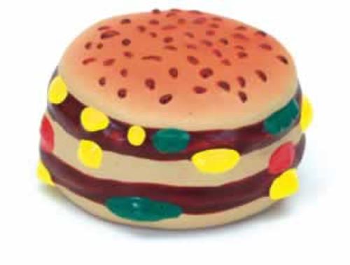 Coastal Rascals Latex Hamburger Dog Toy, 2.5 Inches