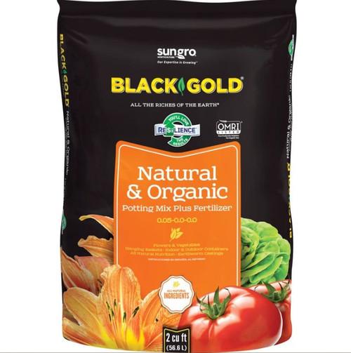 Black Gold Natural & Organic Potting Soil 2 Cubic Feet