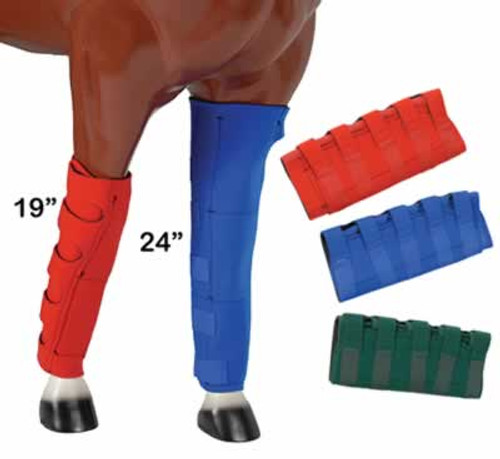 Neoprene Royal Blue Ice Boots for Horses, 24