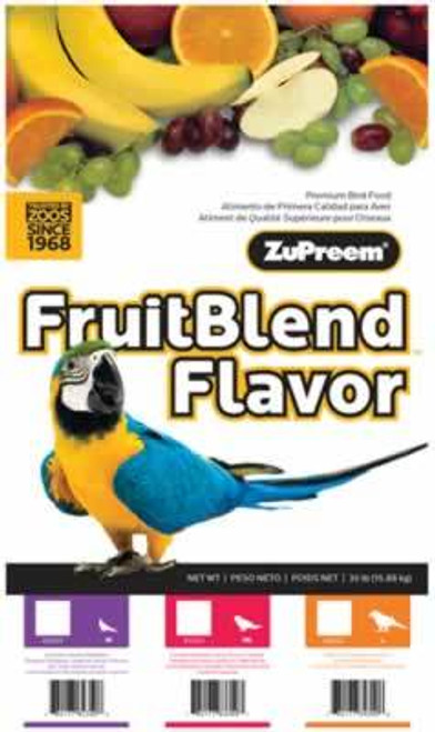 Zupreem FruitBlend Medium/Large Size Bird Food, 35 Pound