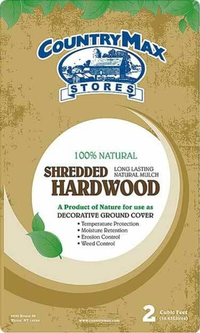Natural Shredded Hardwood Mulch, 2 Cu. Ft.