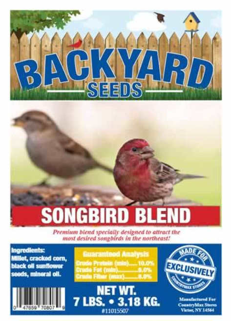 Backyard Seeds Songbird Blend Bird Seed 7 Pounds