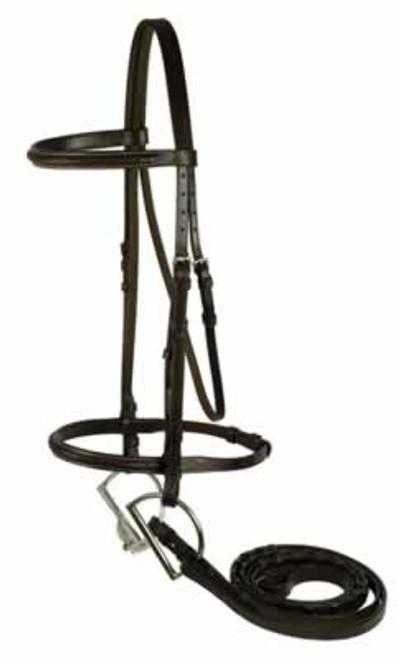 Gatsby Brown Braided Bridle, Horse