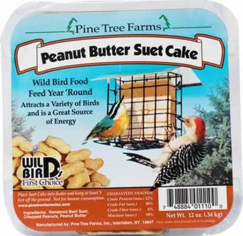 Pine Tree Farms Peanut Butter Suet Cake, .75 Pounds