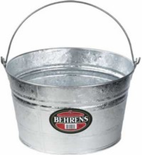 Behrens 4.25 Gallon Hot Dipped Steel Pail Utility Bucket