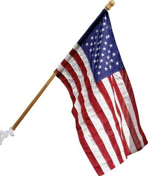 Valley Forge American Flag with Wooden Pole Set, 2.5 ft x 4 ft