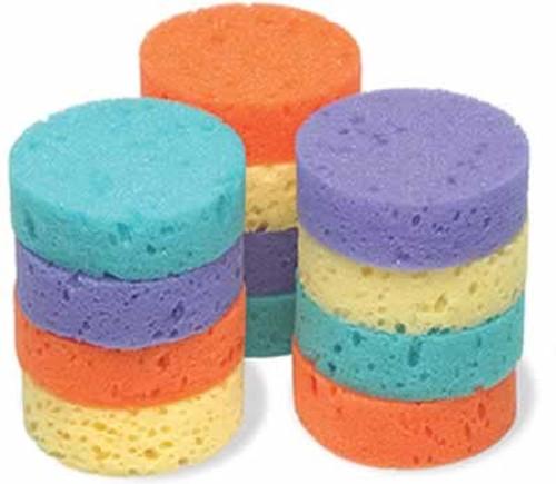 """Jacks Rainbow Tack Sponges, 3"""" x 1"""""""