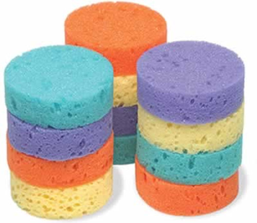 "Jacks Rainbow Tack Sponges, 3"" x 1"""