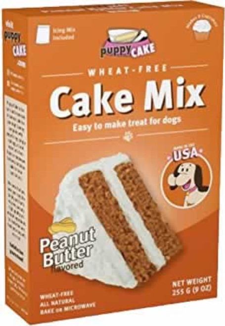 Puppy Cake Wheat Free Peanut Butter Cake Mix and Frosting for Dogs