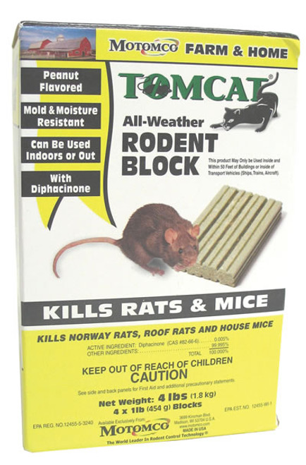 Tomcat All-weather Rodent Block, 4 Lb.