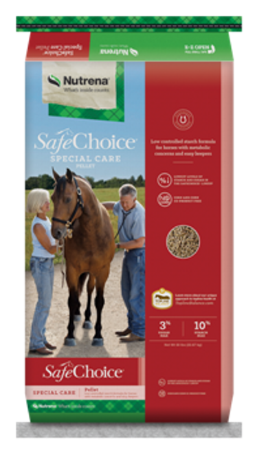 Nutrena SafeChoice Special Care Pelleted Horse Feed, 50 Lbs.