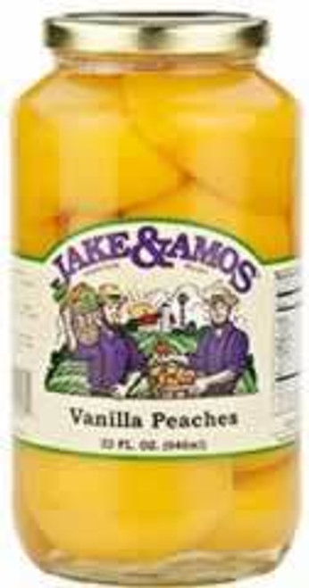 Jake and Amos Vanilla Peach Halves 32 Ounces